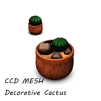 CCD MESH Decorative Cactus COSMOPOLITAN Anniversary Gift