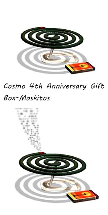 Cosmo 4th Anniversary Gift Box-Moskitos