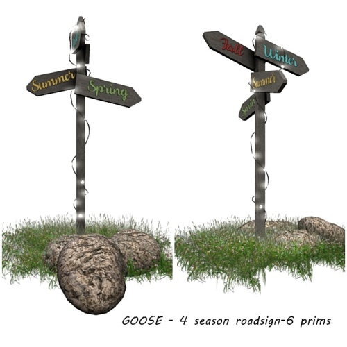 GOOSE - 4 season roadsign-6 prims