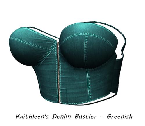 Kaithleen's Denim Bustier - Greenish