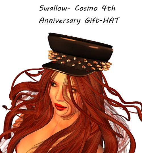 Swallow- Cosmo 4th Anniversary Gift-HAT