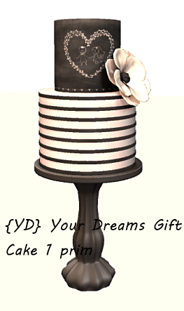{YD} Your Dreams Gift - Cake 1 prim
